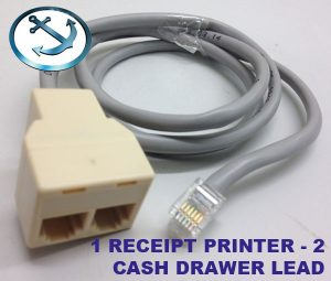 1 Printer (POS) to 2 Cash Drawers Splitter Cable
