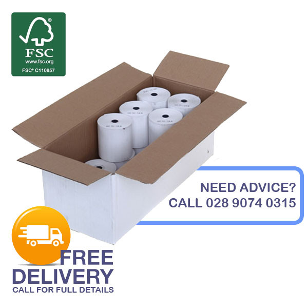 60mm x 150mm Thermal Receipt Rolls (38mm Core)