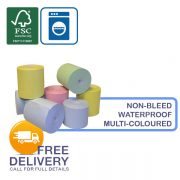 76mm x 76mm Indelible (Non-Bleed) Laundry Receipt Rolls