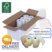 76mm x 76mm 2-PLY A-Grade Receipt Rolls