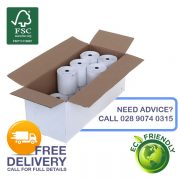 80mm x 80mm Thermal Receipt Rolls with Reverse FSC Logo