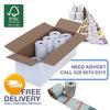 80mm x 80mm Thermal Receipt Rolls with Custom Reverse Logo