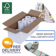 57mm x 40mm Thermal Receipt Rolls with Custom Reverse Logo