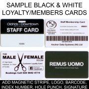 250 x Black & White Swipe Cards (Staff / Membership)