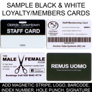 250 x Black & White Swipe Cards (Staff / Membership)