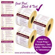 Food Allergen Peelable Labels (Stick & Tick)