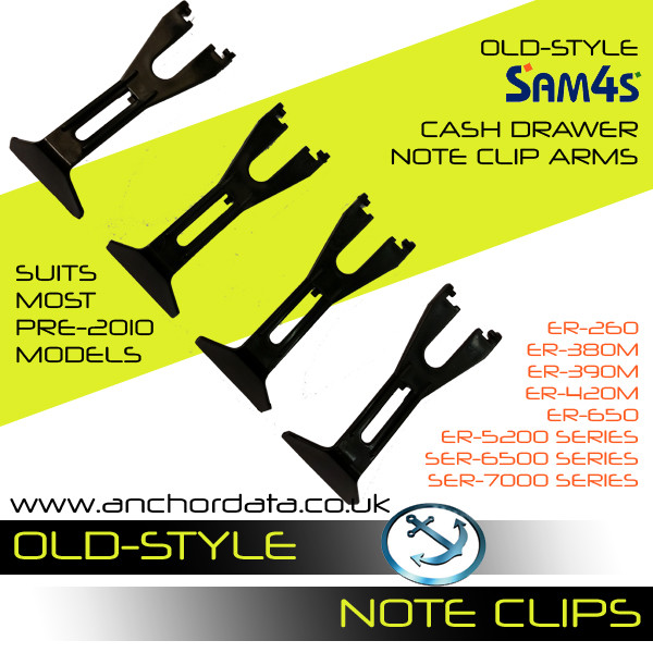 Sam4s/Samsung Cash Drawer Note Clips/Arms
